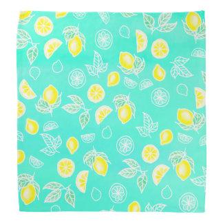 Les fruits modernes de citrons de jaune bandanas