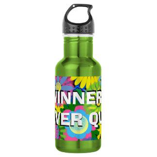 Les gagnants floraux colorés ne stoppent jamais de bouteille d'eau en acier inoxydable