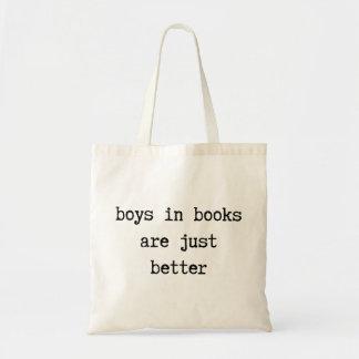 Les garçons dans les livres sont juste un meilleur sac en toile budget