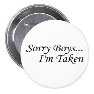 Les garçons désolés, je suis pris badges