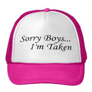Les garçons désolés je suis pris casquette de camionneur