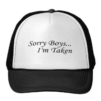 Les garçons désolés, je suis pris casquettes