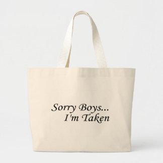 Les garçons désolés je suis pris sac
