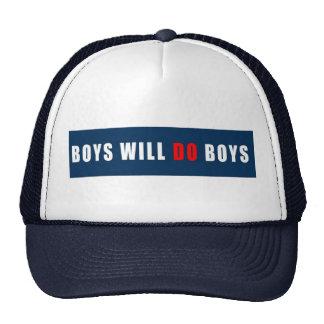 Les garçons feront blanc et bleu Garçon-Rouges Casquettes De Camionneur