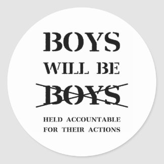 Les garçons seront autocollant de garçons (la