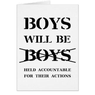 Les garçons seront carte vierge de garçons (aucune