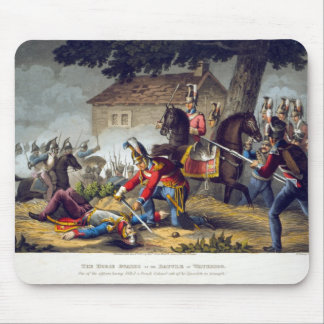Les gardes de cheval à la bataille de waterloo, en tapis de souris