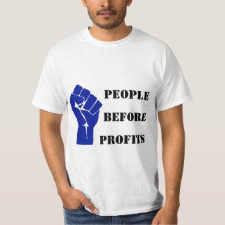 Les gens avant des bénéfices t-shirt
