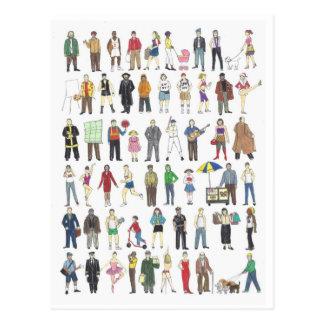 Les gens de la carte postale de citoyens de NYC