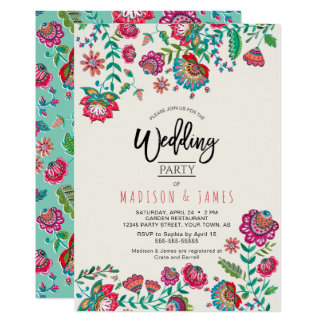 Les gens fleurissent l'invitation chic du mariage carton d'invitation  12,7 cm x 17,78 cm