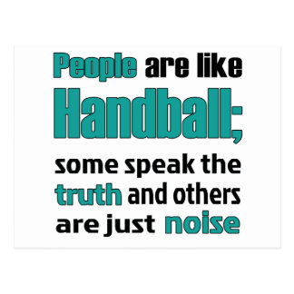 Les gens sont comme le handball carte postale