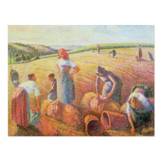 Les glaneurs, 1889 carte postale