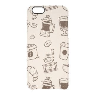 Les grains de café de Brown ont illustré le motif Coque iPhone 6/6S