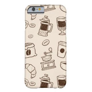 Les grains de café de Brown ont illustré le motif Coque iPhone 6 Barely There