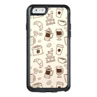 Les grains de café de Brown ont illustré le motif Coque OtterBox iPhone 6/6s
