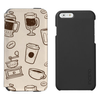 Les grains de café de Brown ont illustré le motif Coque-portefeuille iPhone 6 Incipio Watson™