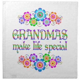 Les grand-mamans font le Special de la vie Serviette Imprimée