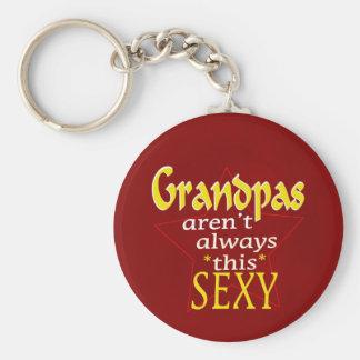 Les grand-papas ne sont pas toujours ce porte - porte-clé rond