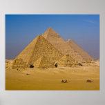 Les grandes pyramides de Gizeh, Egypte Posters