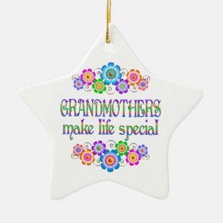 Les grands-mères font le Special de la vie Ornement Étoile En Céramique