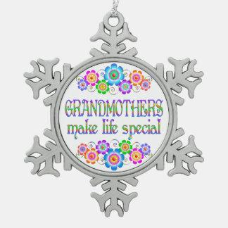 Les grands-mères font le Special de la vie Ornement Flocon De Neige