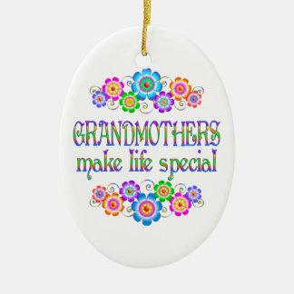 Les grands-mères font le Special de la vie Ornement Ovale En Céramique