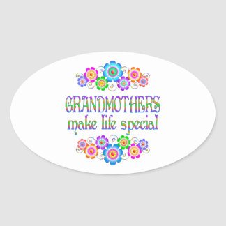 Les grands-mères font le Special de la vie Sticker Ovale