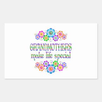 Les grands-mères font le Special de la vie Sticker Rectangulaire