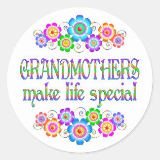 Les grands-mères font le Special de la vie Sticker Rond