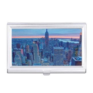 Les gratte-ciel de Manhattan sont allumés Porte-cartes De Visite