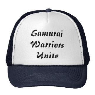 Les guerriers samouraïs unissent casquettes