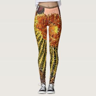 Les guêtres des femmes de cactus de baril de bande leggings