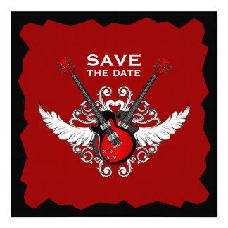 Les guitares de rock sauvent l invitation de date