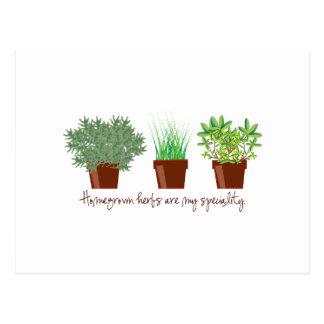 Les herbes du cru sont ma spécialité carte postale