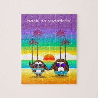 les hiboux ont lieu de nouveau aux vacances ! puzzle
