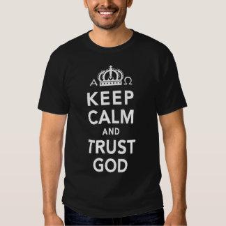Les hommes gardent la chemise de chrétien de Dieu T-shirts