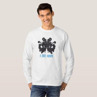 Les hommes longs gainé je vois le T-shirt d'espoir