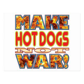Les hot-dogs font X Carte Postale