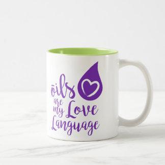 Les huiles sont ma tasse de café de langue d'amour