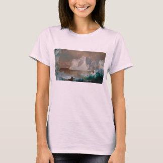 Les icebergs par l'église 1861 de Frederic Edwin T-shirt
