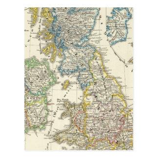 Les îles britanniques 2 carte postale