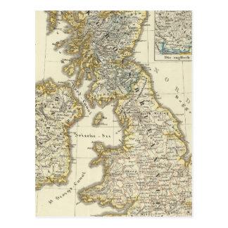 Les îles britanniques depuis 1485 carte postale