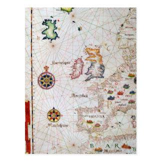 Les îles britanniques, l'Ibérie et l'Afrique du Carte Postale