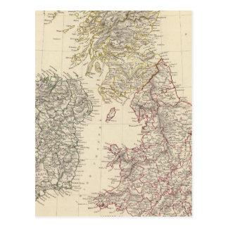 Les îles britanniques carte postale
