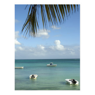 Les Îles Maurice, Baie grand. Bateaux ancrés dans Carte Postale