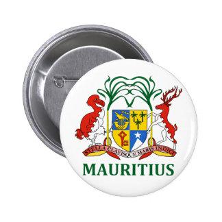 les îles Maurice - emblème drapeau manteau des bra Badge