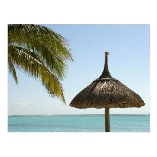 Les Îles Maurice. Scène idyllique de plage avec le Carte Postale