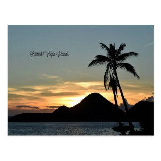 Les Îles Vierges britanniques, coucher du soleil Cartes Postales