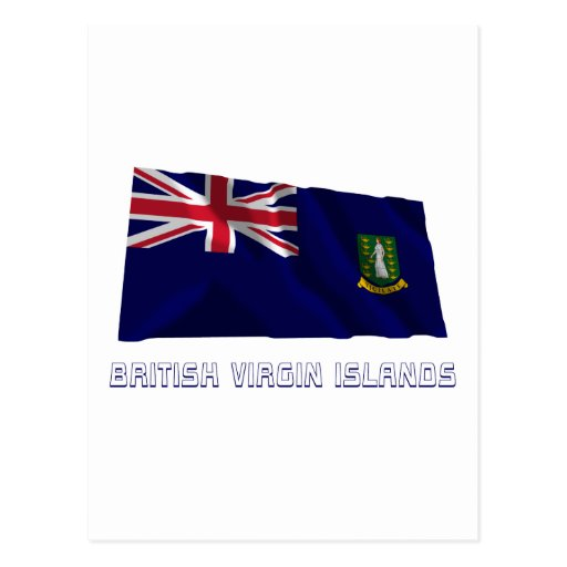 Les Îles Vierges britanniques ondulant le drapeau  Carte Postale