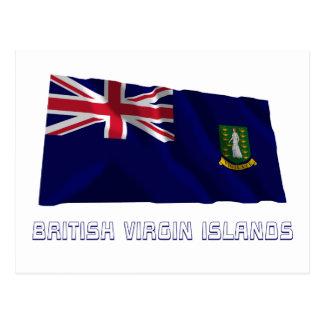 Les Îles Vierges britanniques ondulant le drapeau Cartes Postales